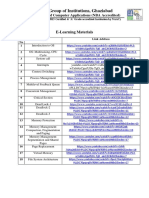 E-Learning Material