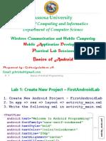 Basics of Android Lab Session - Basics 2018