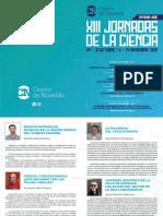 Diptico XIII Semana Ciencia 2019
