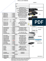 Pricelist Laptop & Printer