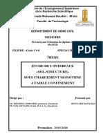 Etude de l'interface sol structure sous chargement monotone a faible confinement.pdf
