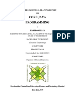 Core Java Programming Report