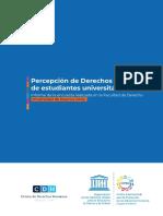 2019 Informe Encuesta Sobre Percepción DDHH Estudiantes Universitarios
