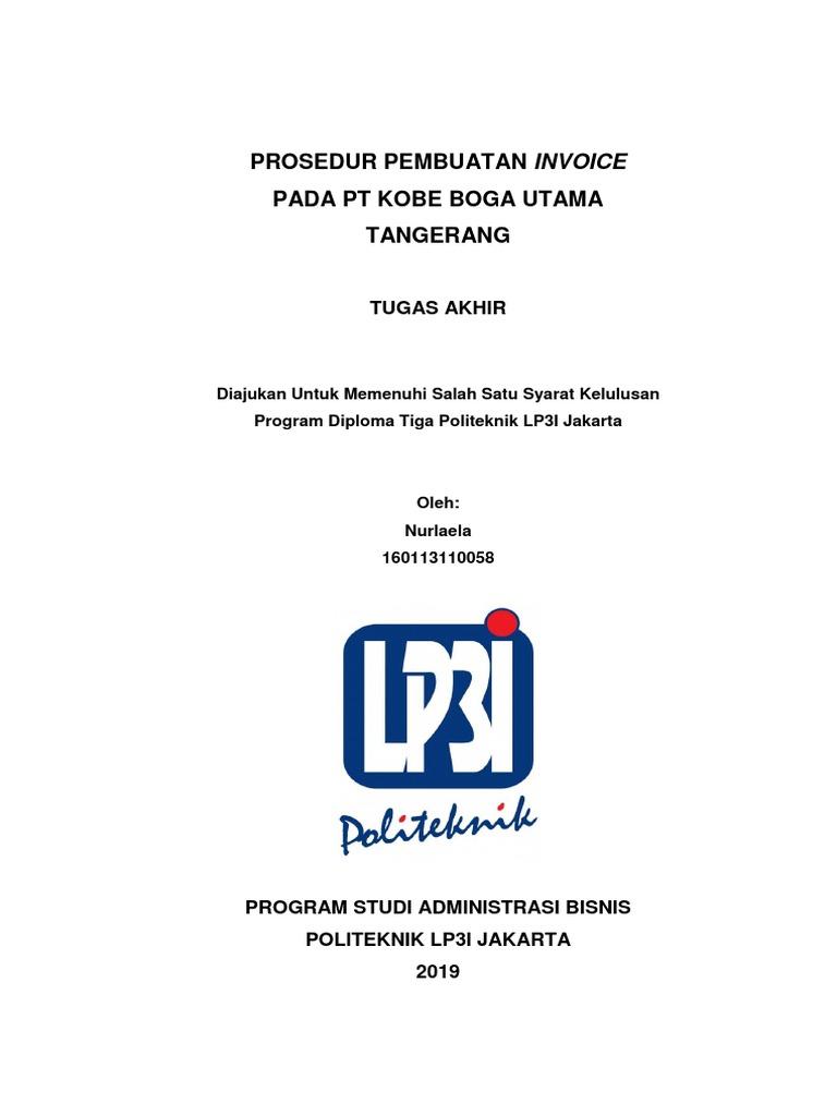 Contoh Laporan Tugas Akhir D3 Administrasi Bisnis Nusagates