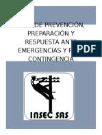 PLAN DE EMERGENCIA Y CONTINGENCIA INSEC