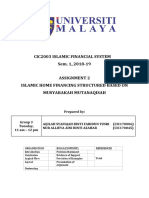 CIC2003 ISLAMIC FINANCIAL SYSTEM ASSIGNMENT 2