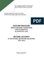 Rachunki Narodowe Wg Sektorow i Podsektorow Instytucjonalnych 2012 2015