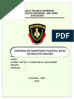 Control de identidad policial