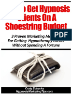 How to Get Hypnosis Clients on a Shoestring Budget