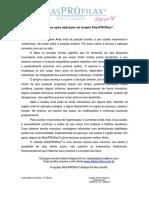 Orientações após aplicação da terapia AtlasPROfila1 IZABELA