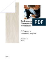 Business and Commercial Awareness