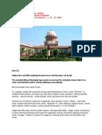 Open  Letter to  Honourable  CJI