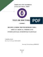 REGIMUL JURIDIC PRIVIND REPRODUCEREA ASISTATĂ MEDICAL