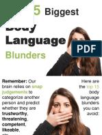 15 Body Language Blunders