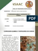 Corrosion Quimica y Espesores de Oxido 1