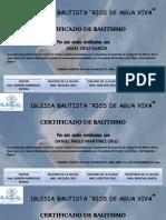 RECONOCIMIENTO DE BAUTISMO