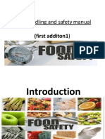 food handling and safety manual