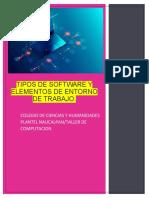 Tipos de Software y elementos del Entorno de Trabajo