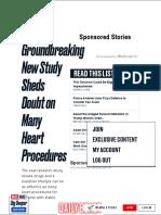 Groundbreaking New Study Sheds Doubt on Many Heart Procedures