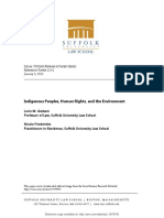 Indigenous Peoples, Human Rights, and the Environment