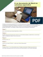 Cómo Dividir Un Documento de Word en Documentos Separados