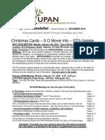 UPAN Newsletter Vol 6 No 12 December 2019