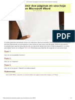 Cómo Imprimir Dos Páginas en Una Hoja en Microsoft Word