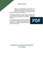 Orígenes y Evolución Del Estudio de Trabajo