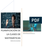 Tarea Final. Planificación de Clases de Matemáticas