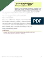 Cómo Fusionar Documentos en Microsoft Word 2007