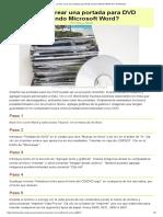 Cómo Crear Una Portada Para DVD Usando Microsoft Word