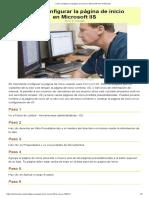 Cómo Configurar La Página de Inicio en Microsoft IIS
