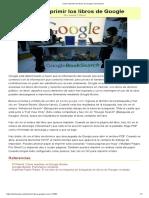 Cómo Imprimir Los Libros de Google
