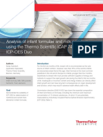 An 44392 Analysis of Infant Formulae and Milk Powders Using the Thermo Scientific Icap 7400 Icp Oes Duo
