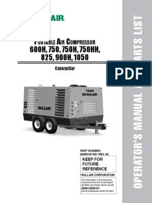CATALOGO COMPRESORA SULLAIR 750.pdf | Valve | Diesel EngineScribd