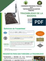 i Seminario Forestal 2019 Trazabilidad