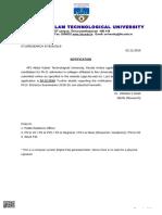Notification 2019-20 PhD Admission