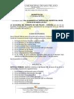 Decreto Comite Conv Escolar 2016