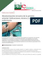 Monitorización invasiva de la presión arterial. Indicaciones, técnica y cuidados de enfermería - Publicaciones Científicas.pdf