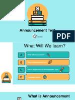 Announcement presentation3