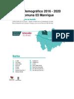 Perfil Demográfico 2016 - 2020 Comuna 03_Manrique