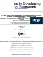 (Akdere, 2009) The Role of Knowledge Management in Quality Management Practices.pdf