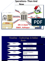 Banking Operations- Then and Now Dr C S Dalvi