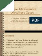 Sample Administrative Disicplinary Cases