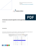 Genetic Algorithm and Application