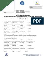 Test 3 - Curs Operator Introducere, Prelucrare, Validare Date