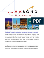 TravBond Bangalore Provides Holiday Tour Packages