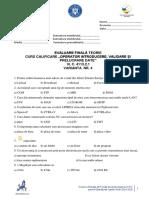 Test 4 - Curs Operator Introducere, Prelucrare, Validare Date