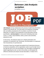 Difference Between Job Analysis and Job Description
