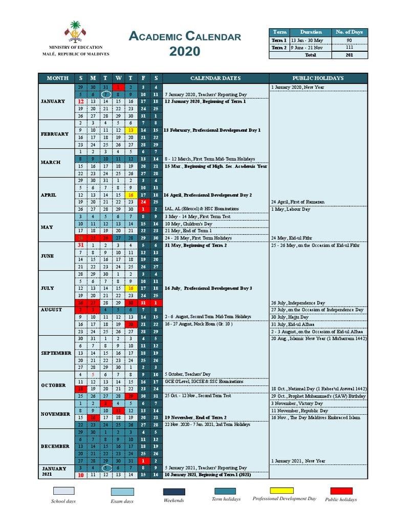 Utd Academic Calendar Fall 2022.Academic Calendar 2020 Academic Term Educational Organizations